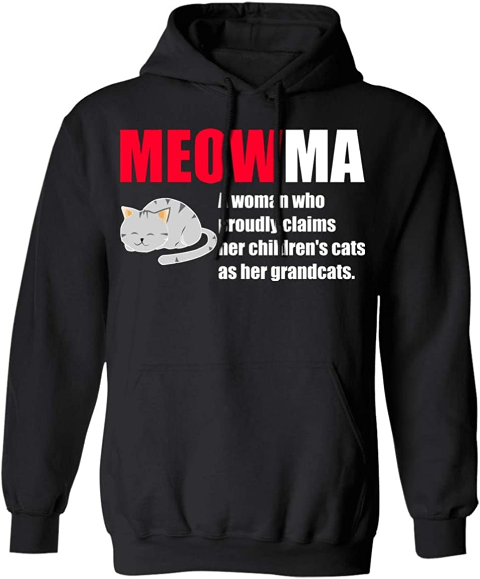 Max 85% OFF Grandma Cat Lover Design Sales of SALE items from new works Moewma Definition Gift Hoodie