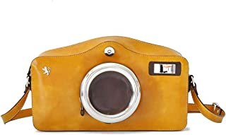 Pratesi Camera Cross-Body Bag - R444 Radica (Mustard)