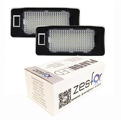 Zesfor Luces de matrícula LED para Audi A4 B8 4 y 5 Puertas (2007-2015)