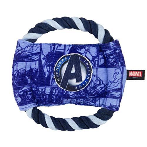 Cerdá - For Fan Pets, Cuerda Dental Disco de Avengers - Licencia Oficial Marvel, Capitan America