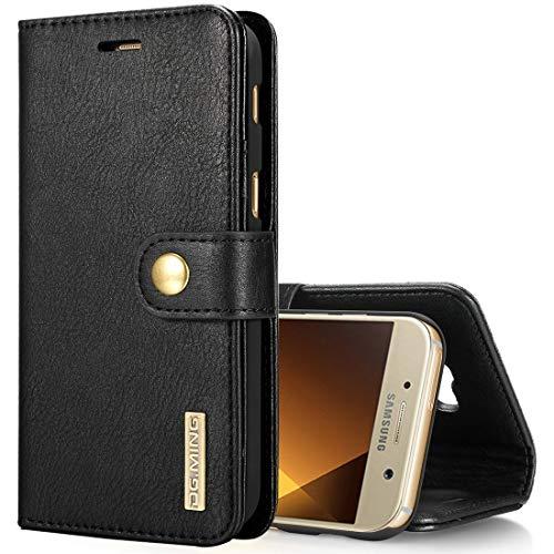 Accesorios del teléfono For Samsung Galaxy A5 (2017) / A520 Crazy Horse Texture Horizontal Flip funda protectora magnética desmontable con soporte y ranuras for tarjetas y billetera Cajas del teléfono
