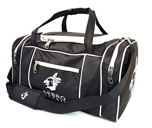 Hochwertige Sporttasche mit Seitenfächern und Tragegurt für Fitness und Sport