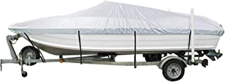 NEXCOVER Trailerable Runabout Boat Cover, Water Proof Heavy Duty, Fit V-Hull Tri-Hull Fishing Ski Pro-Style Bass Boats, Full Size, Including Waterproof Phone Case