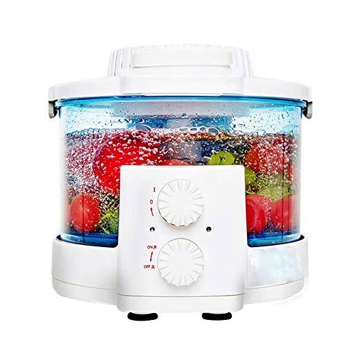 Yyqtgsjhj Purificador de Frutas y Verduras-Máquina de Limpieza de Alimentos Hogar Cocina Desinfectante de ozono Temporizador Frutas Verduras Desinfectante Inteligente Totalmente automático
