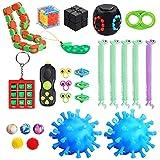 Gemeer 26pcs Fidget Toys, Juguetes sensoriales, para aliviar el estrés y la ansiedad para niños y Adultos