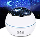 HOKEKI Night Light, Star Projector, Lights for Room, LED Light Projector for Bedroom , Bedside Lamp, 8 Lighting Modes, Adjustable Brightness, 360° Rotation, Suitable for Living Room, Party,Room