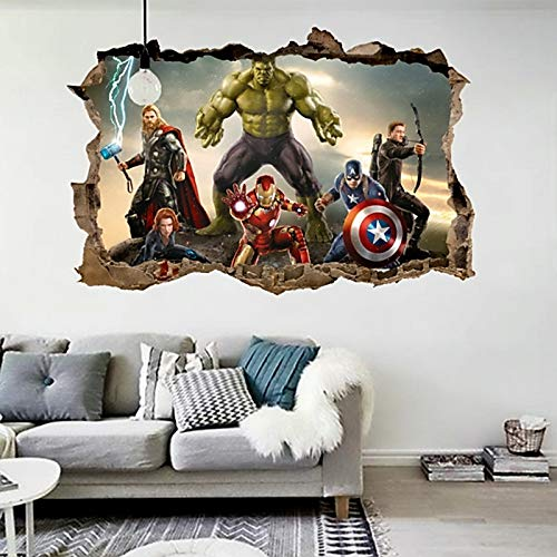 CVG Cartoon Movie Wall Stickers for Kids Rooms Home Decor 3D Effect Decorative Wall Decals DIY Mural Art PVC Posters Art