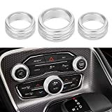 Thor-Ind AC Air Conditioner Volume Tune Knob Button Cover for Dodge Ram 1500 2500 3500 2013 2014-2018 for Dodge Challenger Charger Chrysler 300 300s 2015 2016 2017 2018 2019 2020 (Silver)