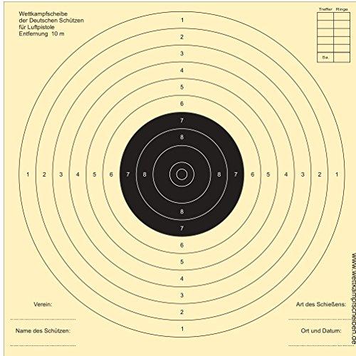 Druckteam Schleede & Partner Schießscheiben für Luftpistolen (500 Stück)