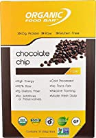 Organic Food Bar - Chocolate Chip, Certfied Organic Vegan Protein Bars (Pack of 12, 2.4 oz)