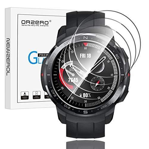 NEWZEROL 4 Piezas Compatible para Honor Watch GS Pro Protector de Pantalla de Vidrio Templado Protector de Pantalla de Vidrio Templado de Alta resolución - Transparente