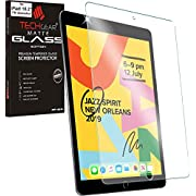 "TECHGEAR Anti-Glare Screen Protector for iPad 10.2"" 2019 - MATTE GLASS Edition Genuine Tempered Glass Screen Protector Guard Cover Designed for Apple iPad 10.2"" 7th Generation 2019"