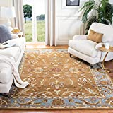 Safavieh Heritage Collection HG812A Handmade Traditional Oriental Premium Wool Area Rug, 6' x 9', Brown / Blue