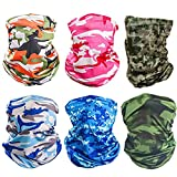 X-CHENG Scarf Balaclava Mask-Neck Gaiter Scarf Mask Sunscreen Breathable Bandanas mask (Plain2)