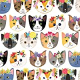 Hippie Kitty Wrapping Paper Flat Sheet - 24' x 6'