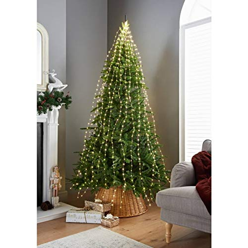 spot on dealz 672 Sparkle LED Cascading Micro Tree Light-Warm White LED Christmas Decoration Light 5m Lead INDOOR/OUTDOOR Use