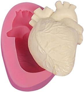 LnLyin Molde de silicona para repostería, diseño de corazón humano 3D, moldes de silicona para fondant, moldes de chocolat...