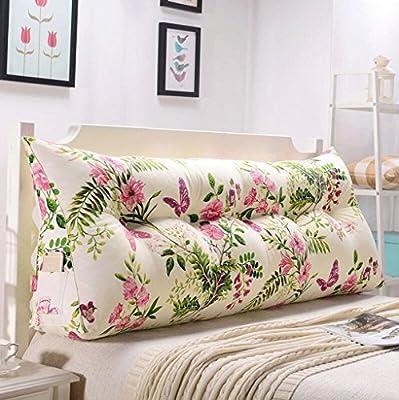 Extraíble (lavable) cubierta acolchada para mayor comodidad. Cómodo, piel suave, seco y transpirable, no se deforma con facilidad, lavable. Las almohadas se pueden leer con mayor comodidad o sentado en la cama. Cabecera, no cabecera de la cama, se pu...
