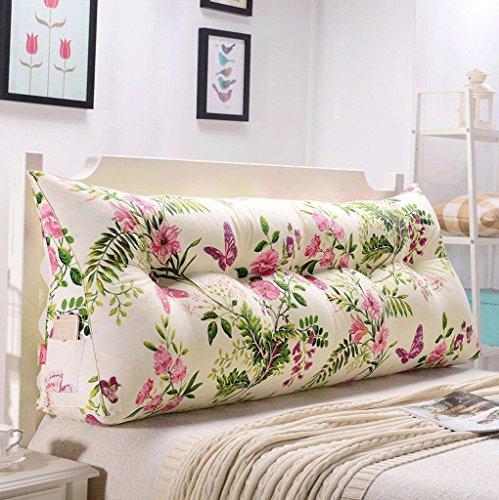 Cabecera de la cintura Cojines Triángulo almohadas de la cama suave Paquete gran sofá amortiguador trasero, Delineador Independiente fácil de lavar y lavar la perla de algodón rellena 8 colores, 6 tam