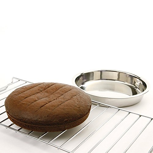 Norpro 9-Inch Stainless Steel Cake Pan, Round (2 Pack) Hawaii