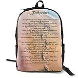 Footprints In The Sand 41,5 cm Doppelfach Schülerrucksack Schultasche geeignet für Jungen und...