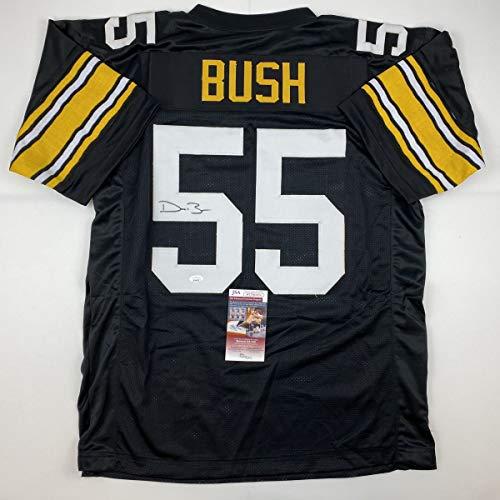 Autographed/Signed Devin Bush Pittsburgh Retro Black Football Jersey JSA COA