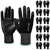 Ultra-Thin Polyurethane(PU) Coated safety Work Gloves-12 Pairs,for Precision Work,Ideal for Light Duty Work