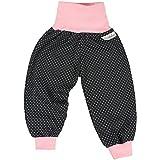 """Lilakind"""" Baby Kinder Mädchen Pumphose Hose Babyhose Jersey Punkte Schwarz Rosa Gr. 86/92- Made in Germany"""