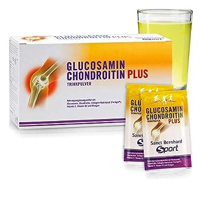 Sanct Bernhard Glucosamin-Chondroitin-Plus-Trinkpulver mit Glucosamin, Chondroitin, Collagen-Hydrolysat (Fortigel®), Vitamine C und B, Mangan