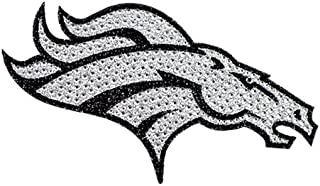 Denver Broncos XL Logo Black & White Auto Bling Rhinestone Decal