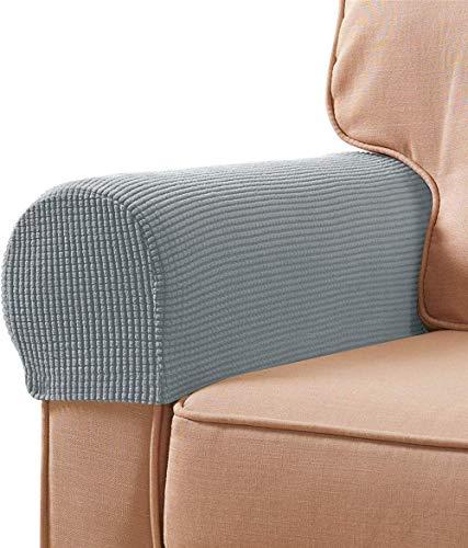 FDQNDXF Fundas para sillas de Licra, Tela elástica, reposabrazos, Fundas Antideslizantes, Protectores de Muebles, sillones, Fundas para sofá reclinable, Juego de 2 con herrami