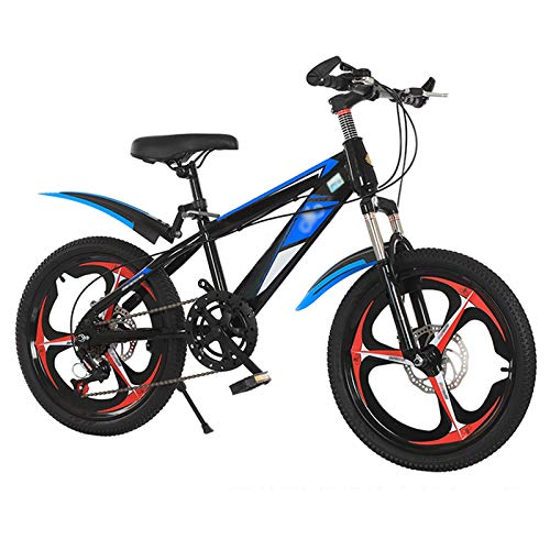 OFFA Kids' Bikes Complete Mountain Bike, 18 20 22 Inch Bicycles 6 Variable Speed Shock-absorbing Bikes, High Carbon Steel Bracket And Integrated Wheel, For Boys Girls Student Cruiser Cycling