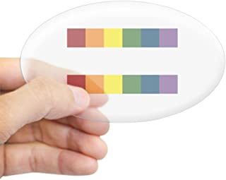 CafePress Gay Rights Equal Sign Oval Bumper Sticker, Euro Oval Car Decal