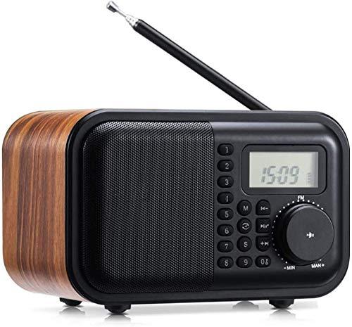 TIANYOU Altavoz Bluetooth Portátil con Radios de Viento Am Fm Mano Impermeable de Emergencia Radio de Tiempo, Antorcha Led, Alarma Sos, Cargador de Teléfono Celular Calidad de sonid