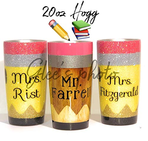 Personalized Pencil, Crayon, Marker. Glitter Tumblers