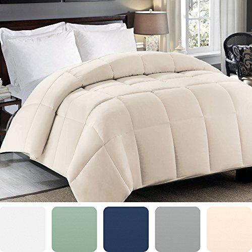 Cosy House Collection Premium Down Alternative Comforter - Sage Green - All Season Hypoallergenic Bedding - Lightweight and Machine Washable - Duvet Insert - (Full/Queen)