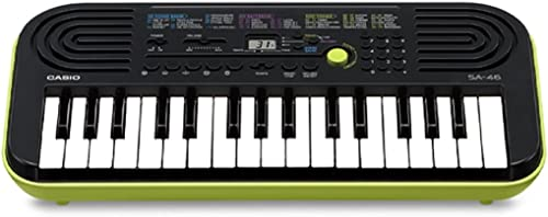 Casio SA-46 32 Mini Keys Musical Keyboard (Black/Green)