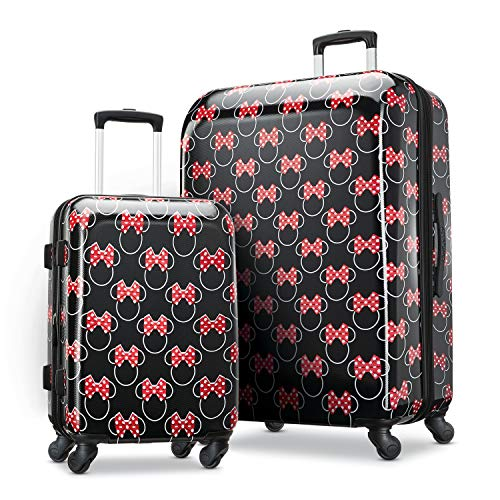 American Tourister Disney Hardside Luggage with Spinner Wheels, Minnie Mouse Head Bow, 2-Piece Set (21/28)