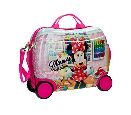 4751051 Trolley bagaglio a mano rigido cavalcabile Minnie Mouse 41 x 34 x 20 cm. MEDIA WAVE store.
