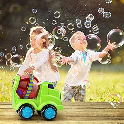 ZKLL Blase Schlagzement Truck Spielzeug - Kinder Spaßautoform Automatische Bubble Maschine Ohne Blase Wasser - Tolles Geburtstagsgeschenk Für Kinder