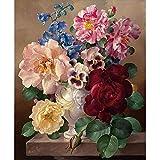 FBDBGRF Pintar por Número Flor De Florete para Adultos Y Niños DIY Kit De Regalo De Pintura Al Óleo con Juego De Pintura Digital para Decoración del Hogar Lienzos para Pintar