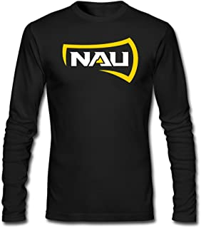 Men's Northern Arizona University Logo Unique Long Sleeve Teeshirt