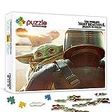 Puzzle de 300 piezas para adultos y adolescentes Star Wars Mandalore Yoda Fun Puzzles Games educación para adultos y adolescentes juego familiar funciona 75x50cm