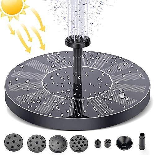 KIPIDA Fuente solar para estanque, bomba de agua para jardín con monocristalino...