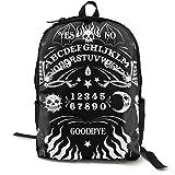 NiYoung Unisex School College Students Bookbag Casual Daypack Travel Laptop Backpack for Everyday, Skull Skeleton Ouija Board Tattoo Black
