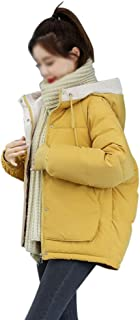 LUKEEXIN Womens Girls Student Short Thickened Down Jacket Winter Fashion Loose Cotton Jacket