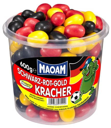 Maoam Schwarz-Rot-Gold-Kracher, 1er Pack (1 x 600 g)