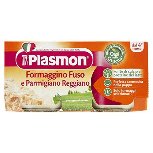 Plasmon Formaggino Fuso e Parmigiano Reggiano Omogeneizzato, 2 x 80g