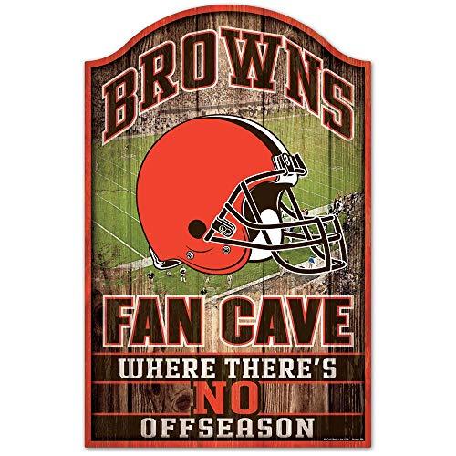 Cleveland Browns houten bord - 11 inchesx17 inch ventilator grot ontwerp