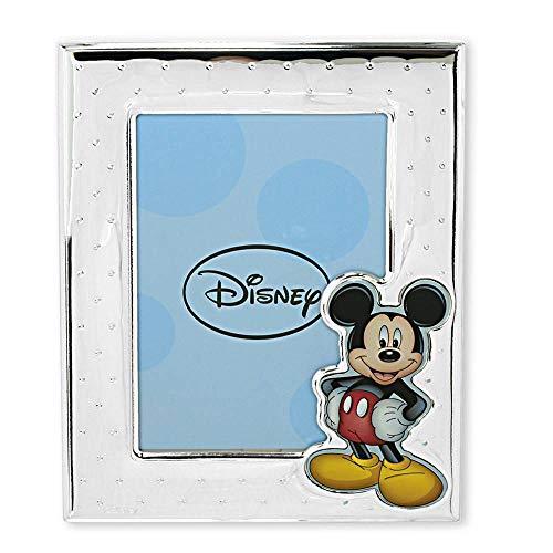 Valenti Marco Portafotos Plata Ley 925M Bilaminada Disney Foto 9X13Cm. Mickey Plateado Efecto Espejo